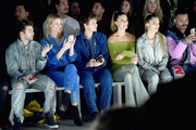 (L-R) Jack Griffo, Charlott Cordes, Warren Elgort, Nina Agdal and Delilah Belle Hamlin attend the John John Fashion Show during New York Fashion Week at Gallery I at Spring Studios on February 12, 2019 in New York City.