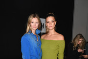 Models Charlott Cordes (L) and Nina Agdal attend the John John front row during New York Fashion Week: The Shows at Gallery I at Spring Studios on February 12, 2019 in New York City.
