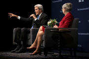 Former U.S. Secretary of State John Kerry  speaks during a Commonwealth Club of California event at the Marines' Memorial Theatre on September 13, 2018 in San Francisco, California. John Kerry spoke in conversation with Commonwealth Club of California president and CEO Gloria Duffy.