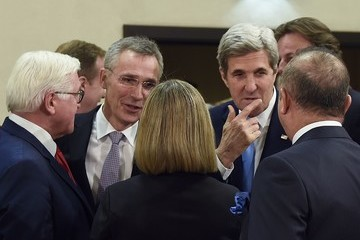 John Kerry Frank-Walter Steinmeier NATO Foreign Ministers Meeting in Brussels