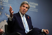 Former U.S. Secretary of State John Kerry speaks at Chatham Houes on November 6, 2017 in London, England. Mr Kerry was speaking during an event entitled 'The Iran Nuclear Deal: Reflections on the First Two Years'
