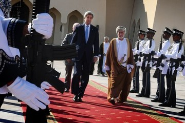 John Kerry US Secretary of State John Kerry Is Seen on an Official Visit to Oman