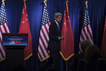 John Kerry John Kerry and Jacob Lew Attend Press Conference in Beijing