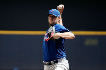 John Lackey Chicago Cubs v Milwaukee Brewers