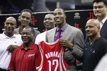 John Lucas Houston Rockets Introduce Dwight Howard
