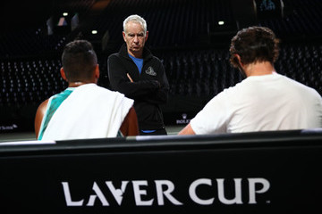 John McEnroe Jordan Thompson Laver Cup 2019 - Preview Day 2