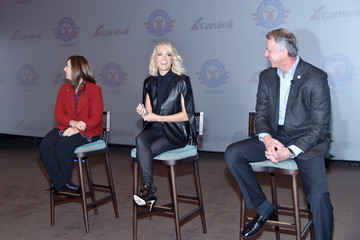 John Pray Carnival Vista U.S. Debut With Carrie Underwood And Godmother Miss USA Celebrating Honor.Family.Fun Campaign And Operation Homefront