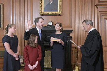 John Roberts  Brett Kavanaugh Is Sworn In As Associate Justice To Supreme Court