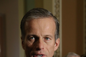 John Thune Senate Lawmakers Speak to Press After Weekly Policy Luncheons