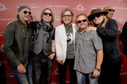 (L-R) Recording artist Chad Smith, Cheap Trick members Daxx Nielsen and Tom Petersson, recording artist Michael Anthony, Cheap Trick member Robin Zander attend the John Varvatos 13th Annual Stuart House benefit presented by Chrysler with Kids' Tent by Hasbro Studios at John Varvatos Boutique on April 17, 2016 in West Hollywood, California.