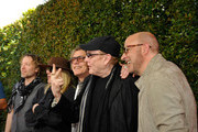 (L-R) Recording artists Daxx Nielsen, Robin Zander, Tom Petersson and Rick Nielsen of music group Cheap Trick and fashion designer John Varvatos attend the John Varvatos 13th Annual Stuart House benefit presented by Chrysler with Kids' Tent by Hasbro Studios at John Varvatos Boutique on April 17, 2016 in West Hollywood, California.