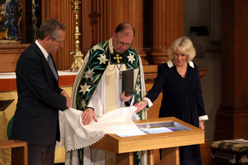 John Witherow Camilla, Duchess of Cornwall Attends Service For Journalists Killed in Conflicts