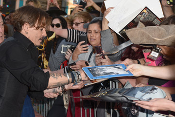 Johnny Depp Premiere of Disney's andnd Jerry Bruckheimer Films' 'Pirates Of The Caribbean: Dead Men Tell No Tales'