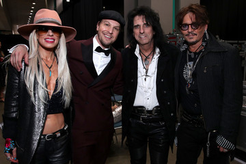 Johnny Depp Alice Cooper MusiCares Person Of The Year Honoring Aerosmith - Inside