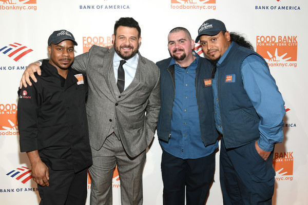 Food Bank For New York City Can-Do Awards Dinner - Arrivals [event,premiere,arrivals,waldo marrero,johnny rivera,maurice young,adam richman,dinner,cipriani wall street,new york city,food bank for new york city,awards dinner]