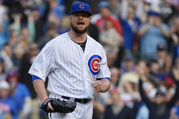 Jon Lester Los Angeles Angels Vs. Chicago Cubs