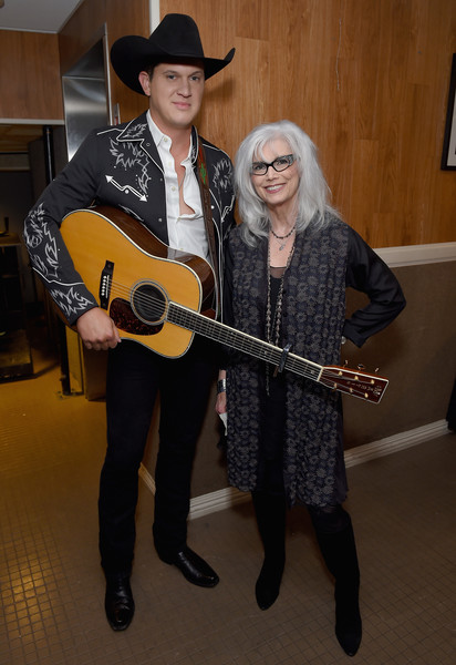 12th Annual ACM Honors - Backstage And Audience [photos,string instrument,guitar,musical instrument,musician,plucked string instruments,guitarist,hat,string instrument accessory,headgear,audience,jon pardi,emmylou harris,acm honors - backstage,nashville,tennessee,ryman auditorium,l,acm honors]