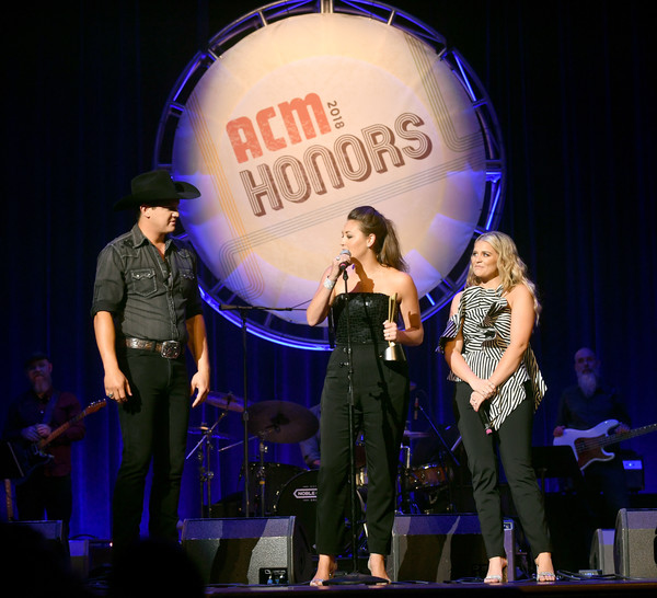 12th Annual ACM Honors - Show [performance,entertainment,performing arts,stage,event,music artist,concert,music,public event,singing,lauren alaina,mattie jackson selecman,jon pardi,l-r,nashville,tennessee,ryman auditorium,acm honors - show,acm honors]