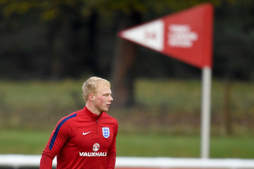 Jonathan Mitchell England U21 Training Session and Press Conference