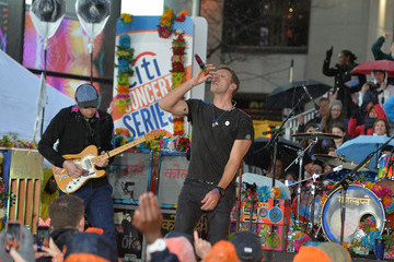 Jonny Buckland Coldplay Performs on NBC's 'Today'