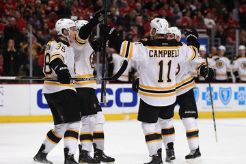 Jordan Caron Boston Bruins v Chicago Blackhawks