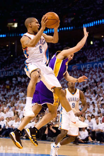 93623087591e5a Jordan Farmar and Eric Maynor Photos - 1 of 1. Los Angeles Lakers v  Oklahoma City Thunder ...