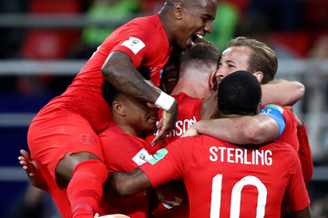 Jordan Henderson Raheem Sterling Colombia vs. England: Round of 16 - 2018 FIFA World Cup Russia