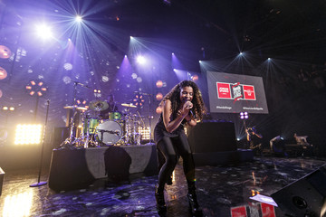 Jordin Sparks Jordin Sparks on the Honda Stage at the iHeartRadio Theater Los Angeles