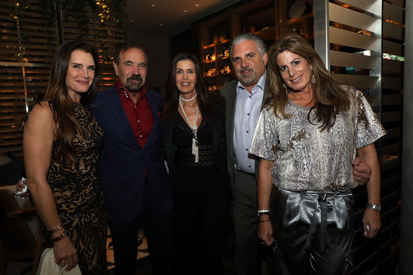 Art Miami 2018 Lifetime Visionary Award Dinner Honoring Dennis And Debra Scholl [fashion,event,fashion design,night,restaurant,party,flash photography,dinner,art miami 2018 lifetime visionary award,boulud sud miami,florida,honoring dennis debra scholl,brooke shields,darlene perez,jorge perez,pamela cohen,nick korniloff]