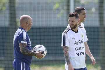 Jorge Sampaoli Argentina Training Session - FIFA World Cup Russia 2018