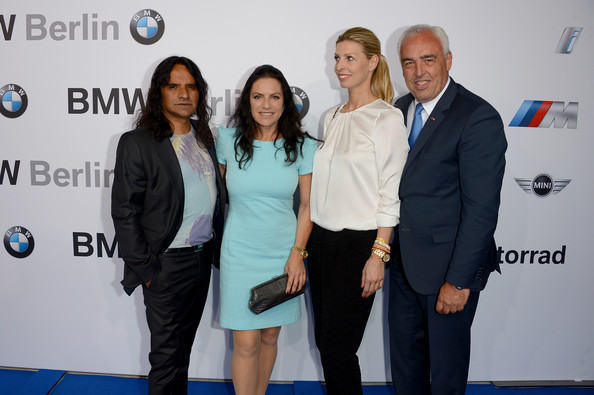 Housewarming At BMW Dealership In Berlin [event,carpet,suit,employment,premiere,white-collar worker,business,flooring,businessperson,jose campos,katerina schroeder,hans-reiner schroeder,christine neubauer,berlin,germany,bmw dealership,bmw,housewarming]