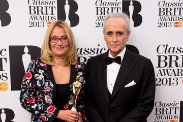 Jose Carreras Winners Boards at the Classic BRIT Awards