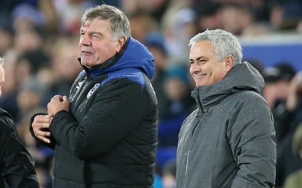 Jose Mourinho, Sam Allardyce - Jose Mourinho and Sam Allardyce Photos -  Everton v Manchester United - Premier League - Zimbio