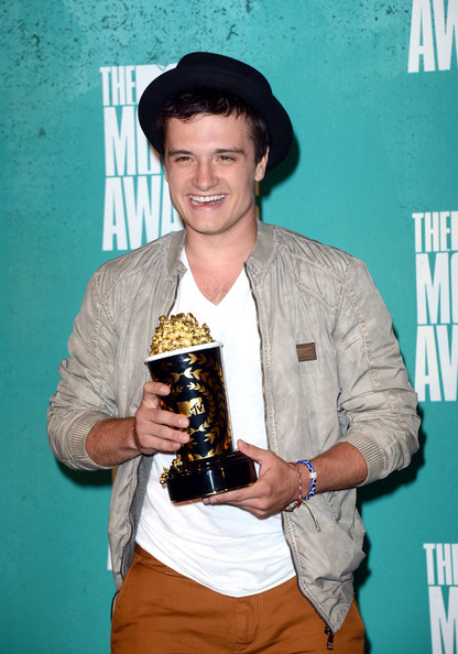 Josh Hutcherson Best Male Performance winner Josh Hutcherson poses in the press room during the 2012 MTV Movie Awards held at Gibson Amphitheatre on June 3, 2012 in Universal City, California.
