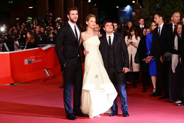 Josh Hutcherson Liam Hemsworth 'The Hunger Games: Catching Fire' Premieres in Rome