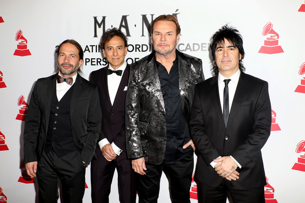 The Latin Recording Academy's 2018 Person Of The Year Gala Honoring Mana - Red Carpet [suit,event,premiere,red carpet,carpet,tuxedo,formal wear,alex gonzalez,fher olvera,juan calleros,sergio vallin,red carpet,l-r,latin recording academy,mana,gala,person of the year]
