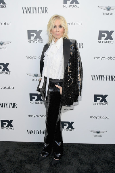 FX Networks Celebrates Their Emmy Nominees In Partnership With Vanity Fair [fx networks celebrates their emmy nominees in partnership with vanity fair,clothing,fashion,carpet,shoulder,outerwear,footwear,joint,leather,premiere,red carpet,nominees,judith light,partnership,emmy,century city,california,fx networks,vanity fair,celebration]
