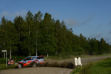 Juho Hanninen FIA World Rally Championship Finland: Day 2