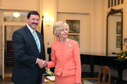 Mike Kelly and Quentin Bryce Photos Photo
