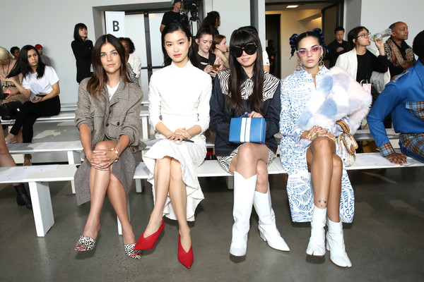 Calvin Luo - Front Row - September 2018 - New York Fashion Week [event,fashion,lady,fashion design,leg,calvin luo,calvin luo front row,estelle chen,sita abellan,leaf greener,julia restoin roitfeld,front row,gallery i,new york fashion week,spring studios]