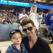 Julian Fuego Thicke Celebrities At The New York Mets v Los Angeles Dodgers - August 14, 2013