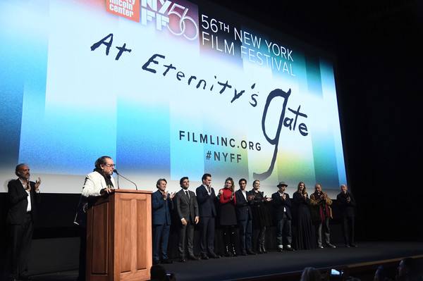 56th New York Film Festival - 'At Eternity's Gate' - Intro [at eternitys gate,intro,projection screen,stage,display device,event,stage equipment,sky,technology,company,academic conference,convention,julian schnabel,willem dafoe,stella schnabel,tatiana lisovkaia,benoit delhomme,louise kugelberg,vladimir consigny,new york film festival]
