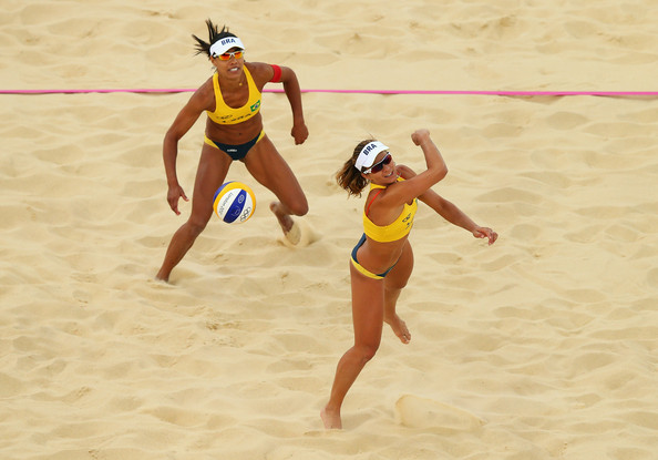Franca and Felisberta Da Silva compete early in the London Games.