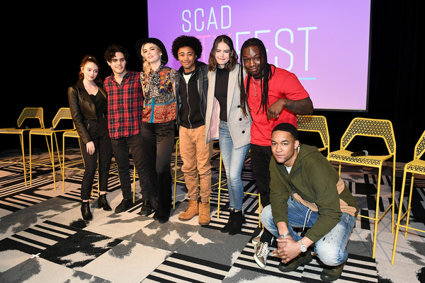 "SCAD aTVfest 2020 - ""Legacies"" [social group,event,youth,fashion,performance,design,fun,stage,heater,team,legacies,scad atvfest,l-r,public relations,product,design,recreation,public,samantha highfield,jenny boyd,kaylee bryant,quincy fouse,aria shahghasemi,julie plecdanielle rose russell,peyton alex smith]"