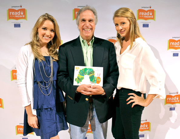 (L-R) Actors Emily Osment, Henry Winkler, and Lo Bosworth attend Jumpstart?s Read for the Record at the LA Public Library on October 8, 2009 in Los Angeles, California.