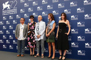 (L- R) Jury members Fruit Chan, Paz Vega, President Jonathan Demme, Alix Delaporte and Anita Caprioli attends the Orizzonti Jury Photocall during the 72nd Venice Film Festival on September 2, 2015 in Venice, Italy.