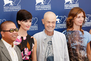 (L- R) Jury members Fruit Chan, Paz Vega, President Jonathan Demme abd Alix Delaporte attend the Orizzonti Jury Photocall during the 72nd Venice Film Festival on September 2, 2015 in Venice, Italy.