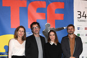 (L to R) Mariette Rissenbeek, Don McKellar, Hadas Yaron and Adrian Sitaru attend the Jury press conference during the 34 Torino Film Festival on November 21, 2016 in Turin, Italy.