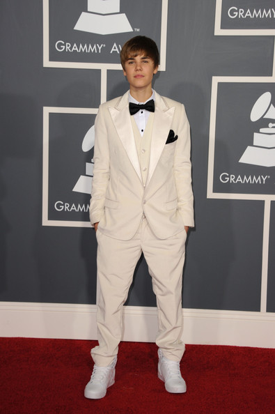 Justin Bieber Singer Justin Bieber arrives at The 53rd Annual GRAMMY Awards held at Staples Center on February 13, 2011 in Los Angeles, California.