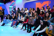 """The studio audience during Justin Bieber storms MTV's """"Fresh Out Live"""" and makes a superfan's dreams come true on February 07, 2020 in New York City."""